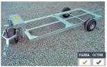 02938372 Wózek sadowniczy dwupaletowy W-2S, wersja: ocynkowana (ładowność: 800 kg)
