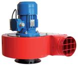 08549399 Wentylator promieniowy stanowiskowy WPA-9-E-3-N 400V (obroty synchroniczne: 3000 1/min, moc: 2,2 kW, wydajność wentylatora: 4500 m3/h)
