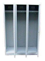 77157012 Szafa odzieżowa BHP, 3 drzwi (wymiary: 1800x1200x480 mm)