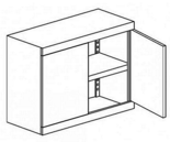 99551702 Nadstawka do szaf biurowych 1,0mm, 2 drzwi, 1 półka (wymiary: 810x800x435 mm)