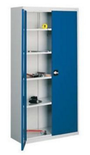 99552473 Szafa warsztatowa, 4 półki , 2 drzwi (wymiary: 1990x1200x435 mm)