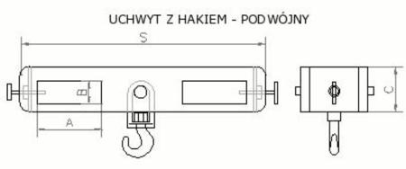 DOSTAWA GRATIS! 2903550 Uchwyt z hakiem (podwójny) (3000kg)