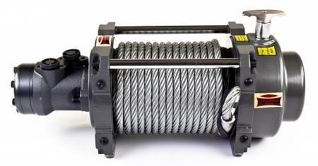 55972516 Wyciągarka hydrauliczna Hidra DWHI 18000 HD bez sterowania, z liną stalową 28m, hamulec dynamiczny (udźwig: 18000 lb/ 8165 kg, maks. ciśnienie oleju: 14 Mpa)