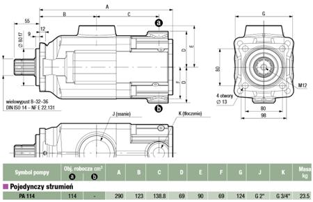 DOSTAWA GRATIS! 01539118 Pompa hydrauliczna tłoczkowa Hydro Leduc (objętość geometryczna: 114 cm³, maksymalna prędkość obrotowa: 1300 min-1 /obr/min)