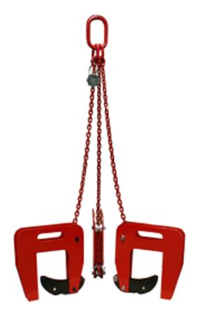DOSTAWA GRATIS! 3398554 Zawiesie łańcuchowe 3-cięgnowe zakończone uchwytami do podnoszenia kręgów betonowych GDA 1,5 (udźwig: 1,5 T, zakres chwytania: 40-120 mm)
