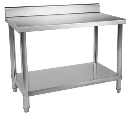 DOSTAWA GRATIS! 4564345 Stół roboczy ze stali nierdzewnej z kantem Royal Catering (wymiary: 60 x 120 x 96,4 cm)