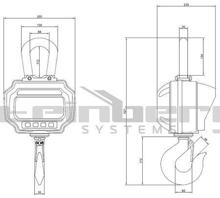 DOSTAWA GRATIS! 45643498 Waga hakowa Steinberg Systems LED (udźwig: 3T)
