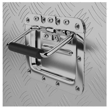 DOSTAWA GRATIS! 45674785 Skrzynka narzędziowa MSW - aluminium - 48 l (wymiary: 76 x 35 x 25,5 cm)