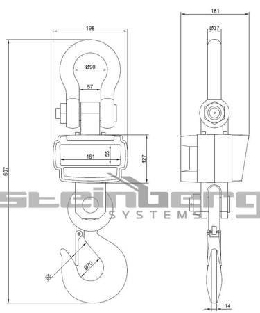 DOSTAWA GRATIS! 45674874 Waga hakowa Steinberg Systems - dwa piloty (udźwig: 10000 kg)