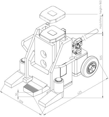 DOSTAWA GRATIS! 49930340 Podnośnik hydrauliczny (nośność: 20T)