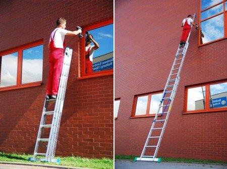 DOSTAWA GRATIS! 99674905 Drabina aluminiowa 3x7 na schody 150kg (wysokość robocza: 5,60m)