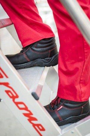DOSTAWA GRATIS! 99675060 Drabina magazynowa jezdna FARAONE z wejściem jednostronnym (wysokość robocza: 2,78m)