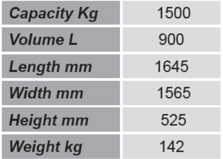 Niski pojemnik GermanTech (pojemność: 900 L) 99724699