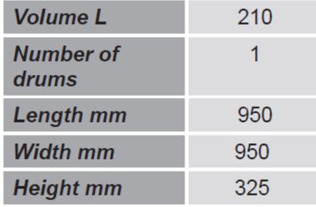 Paleta do transportu beczek GermanTech (ilość beczek: 1, wymiary: 950x950x325 mm) 99724713