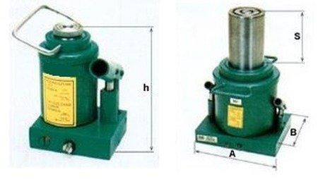 Podnośnik hydrauliczny jednotłokowy - niski (wysokość podnoszenia min/max: 200/360mm, udźwig: 30T) 6276350