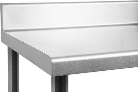 Stół roboczy ze stali nierdzewnej z kantem Royal Catering (wymiary: 60 x 120 x 96,4 cm) 4564345