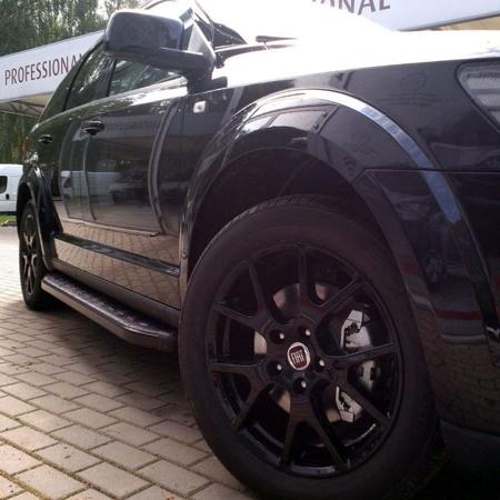 Stopnie boczne, czarne - Volkswagen T5 & T6 2015- long (długość: 252 cm) 01655983