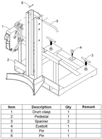 Uchwyt do beczek na wózek widłowy GermanTech (udźwig: 360 kg) 99724857