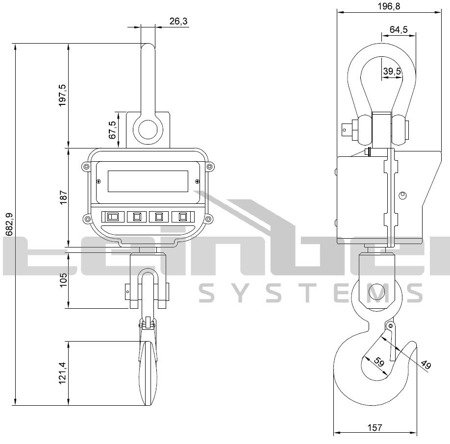 Waga hakowa Steinberg Systems LCD (udźwig: 5T) 45643489