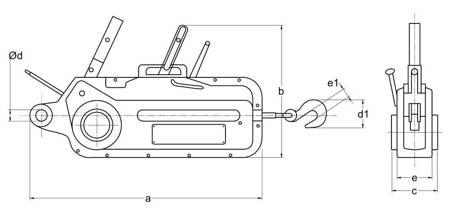 Wciągnik linowy bez liny (udźwig: 1,6 T) 22076816