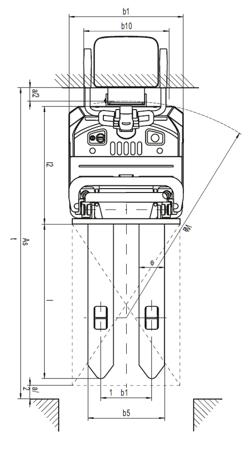 Wózek paletowy podnośnikowy elektryczny z podestem, wspomaganie (wysokość podnoszenia: 3250mm, udźwig: 1400 kg) 31046312
