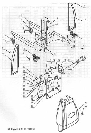 Wózek podnośnikowy z podestem elektryczny GermanTech (max wysokość: 1550 mm, udźwig: 150 kg) 99724810