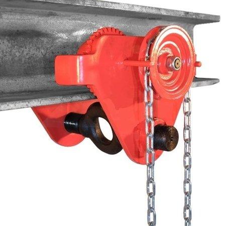 Wózek ręczny jezdny z łańcuszkiem i napędem (udźwig: 3,0 T, szerokość belki jezdnej: 160-300 mm, wysokość łańcucha manewrowego: 3m) 0301442