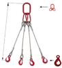 IMPROWEGLE Zawiesie linowe czterocięgnowe miproSling LE 18,0/12,5 (długość liny: 1m, udźwig: 12,5-18 T, średnica liny: 28 mm, wymiary ogniwa: 275x150 mm) 33948489